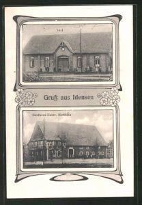 AK Idensen, Gasthaus Heinr. Matthias, Saal