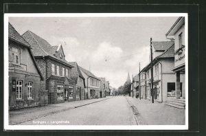 AK Sulingen, Langestrasse mit Geschäften