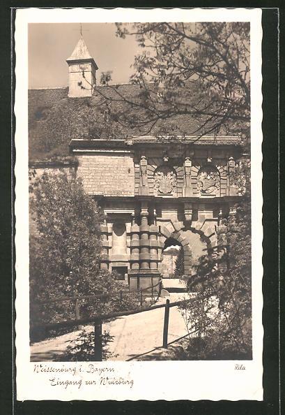 AK Weissenburg i. Bayern, Eingang zur Wülzburg