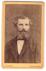 Fotografie C. Thielheim, Marienwerder, Portrait bürgerlicher Herr mit Vollbart