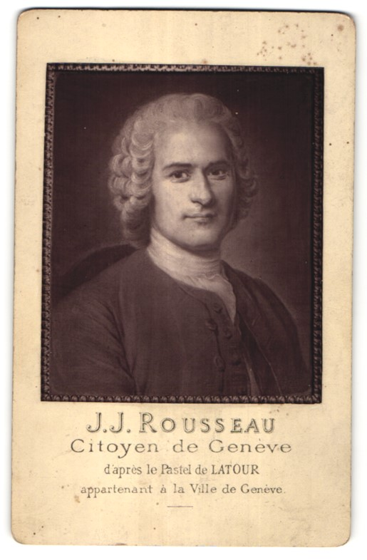 Fotografie J. Lacroix, Genève, Portrait J. J. Rousseau, Citoyen de Genève