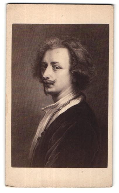 Fotografie Gustav Schauer, Berlin, Portrait des Malers van Dyck