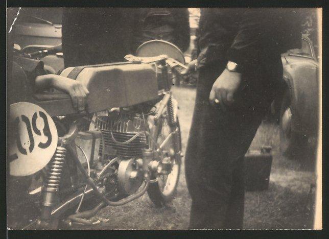 Fotografie Motorrad MZ-RE, Rennmotorrad mit Startnummer 209