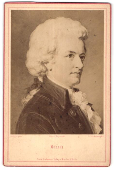Fotografie Friedrich Bruckmann, München, Portrait Wolfgang Amadeus Mozart