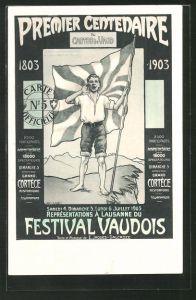 AK Lausanne, Représentations du Festival Vaudois, Premier Centenaire, 1803-1903