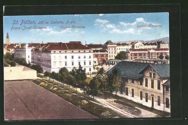 AK St. Pölten, Franz-Josef-Kaserne, Eugen-Kaserne & Rainer-Kaserne