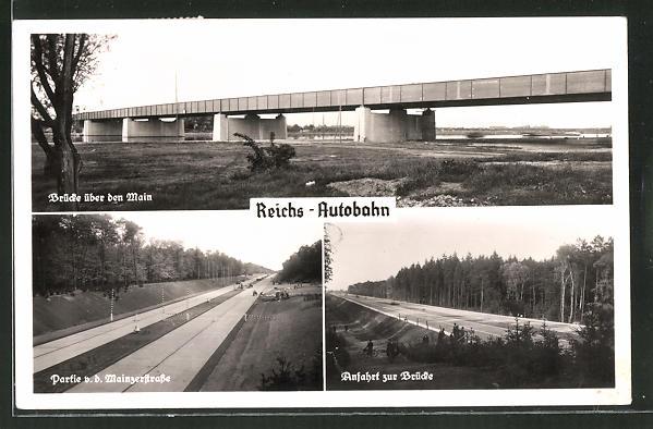 AK Reichs-Autobahnstrecke Frankfurt a/M-Darmstadt, Brücke
