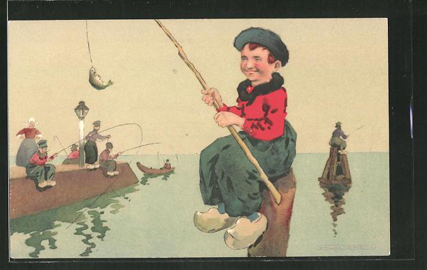 AK Kleiner Angler in Tracht