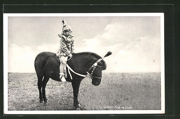 AK Klein Fränzschen, kleiner Artist auf Pferd