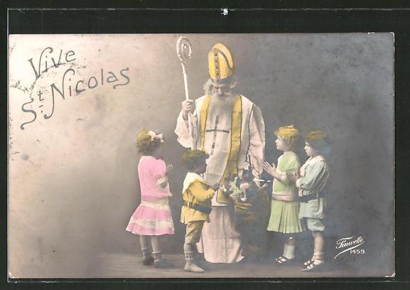 AK Vive St. Nicolas, Kinder bitten den Nikolaus um Geschenke