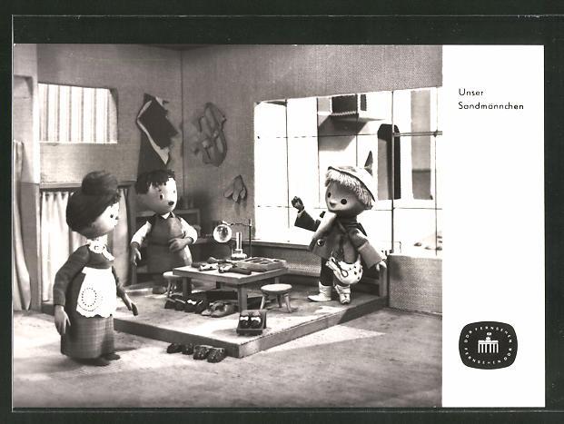 AK Sandmann in der Schusterwerkstatt