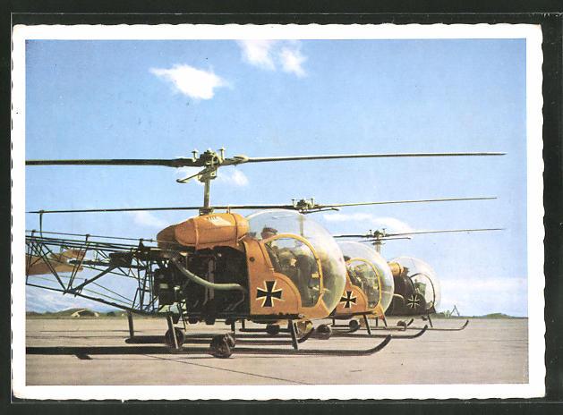 AK Hubschrauber der Bundeswehr vor dem Abflug