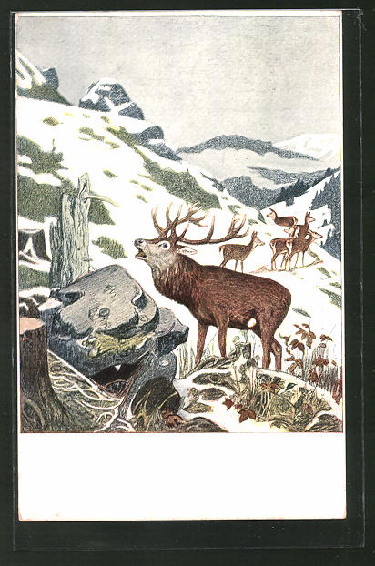 Künstler-AK Eugen Ludwig Hoess: