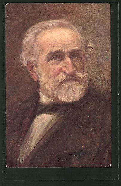 AK Portrait von Giuseppe Verdi