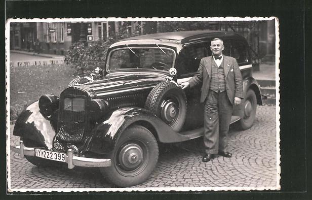 AK Mann mit Mercedes Benz Diesel