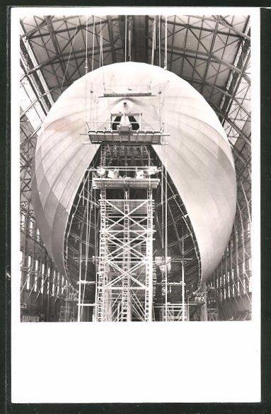 AK Zeppelin LZ 130 in Bau