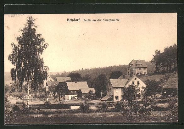 AK Hetzdorf, Partie an der Sumpfmühle