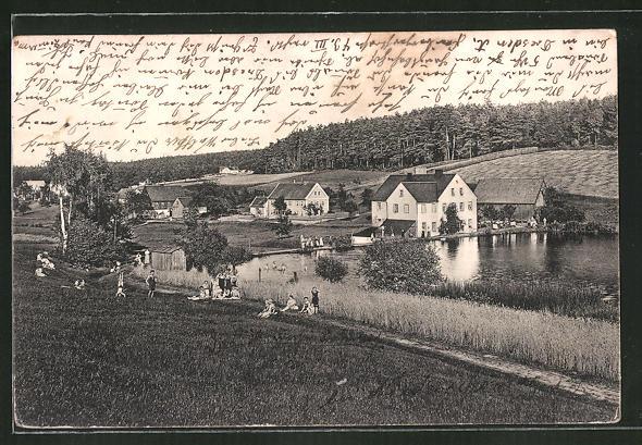AK Hetzdorf, Ortspartie am Wasser
