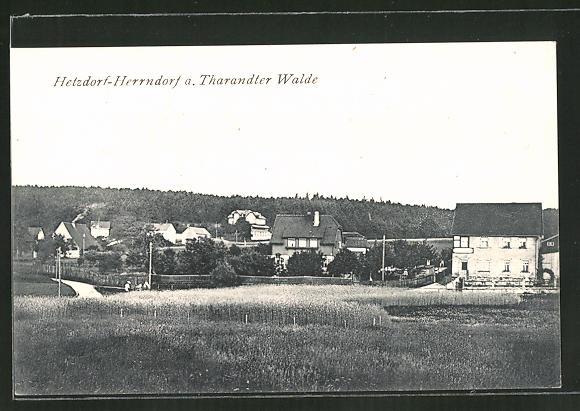 AK Hetzdorf-Herrndorf, Blick zum Ort