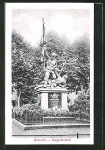 AK Gütersloh, Blick zum Kriegerdenkmal