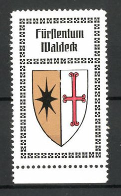 Reklamemarke Wappen vom Fürstentum Waldeck