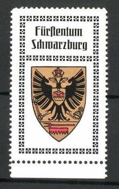 Reklamemarke Wappen vom Fürstentum Schwarzburg