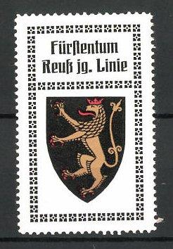 Reklamemarke Wappen vom Fürstentum Reuss junge Linie