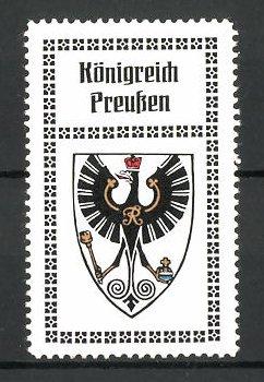 Reklamemarke Wappen vom Königreich Preussen