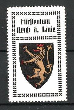 Reklamemarke Wappen vom Fürstentum Reuss ältere Linie