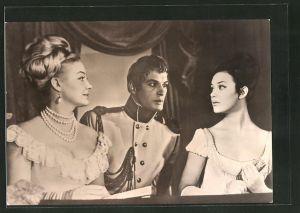 AK Schauspieler Ludmilla Saweljewa, Irina Skobzewa und Wassili Lanowoi im Film