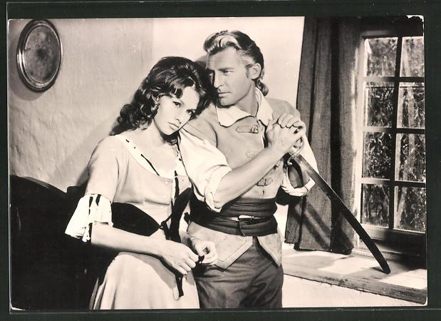 AK Schauspieler Georges Rivière und Jeanne Valèrie im Film