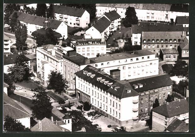 AK Hanau, St. Vincenz-Krankenhaus aus der Vogelschau