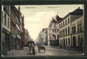AK Düsseldorf, Teilansicht mit Schadowstrasse