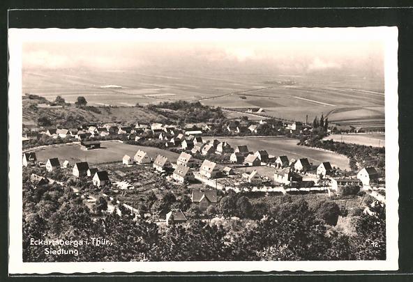 AK Eckartsberga / Thür., Siedlung aus der Vogelschau