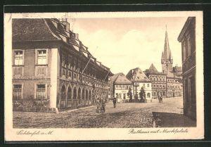 AK Lichtenfels a. M., Rathaus mit Blick auf den Marktplatz