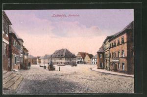 AK Lichtenfels, Blick auf den Marktplatz