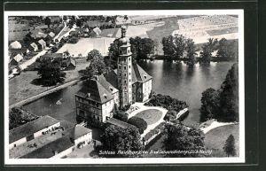 AK Bad Schmiedeberg, Blick auf Schloss Reinharz in der Dübener Heide