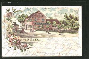 Lithographie Hösel, Gasthaus Stintshof