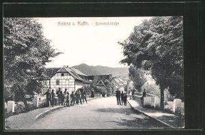AK Kelbra a. Kyffh., Strassenpartie in der Bahnhofstrasse