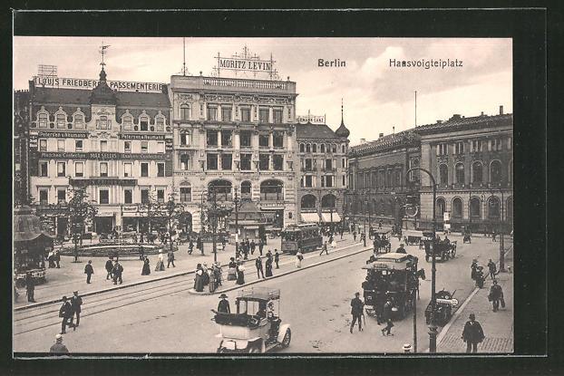AK Berlin, Verkehr auf dem Hausvogteiplatz