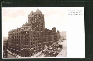 AK Montreal, CPR Station Windsor Street, Bahnhof