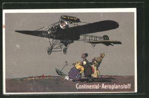 AK Reklame für Continental-Aeroplanstoff