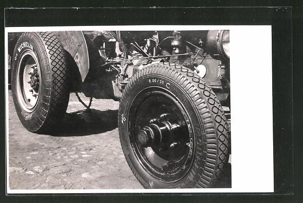 Foto-AK Breifung von Traktor