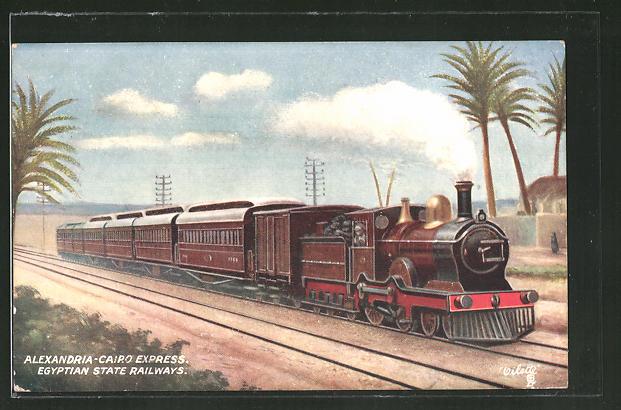 AK Egyptian State Railway, Alexandria-Cairo Express, Eisenbahn