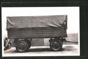 Foto-AK Lastkraftwagen-Anhänger mit Verdeck