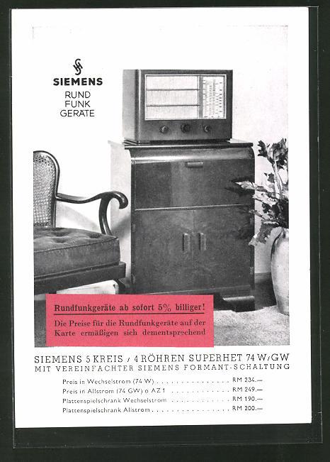 AK Siemens Rundfunk Geräte, Radio