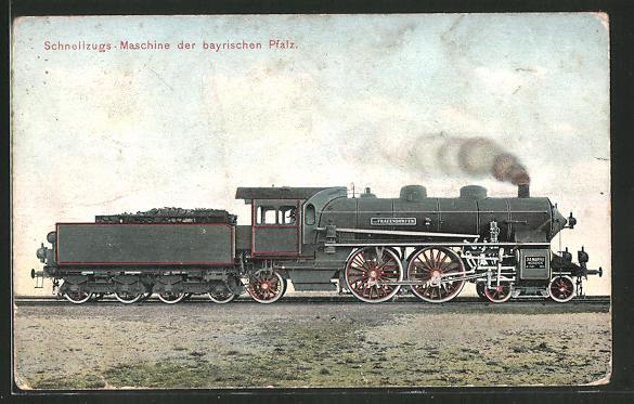 AK Schnellzugs-Maschine der bayrischen Pfalz, Lokomotive