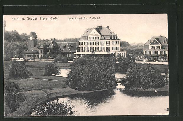AK Travemünde, Parkhotel und Strandbahnhof