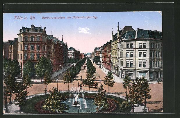 Ak Koln Neustadt Barbarossaplatz Mit Hohenstaufenring Nr 8029679