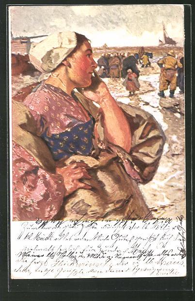 Künstler-AK G. Hirth's Verlag, Serie I, 4: Die Frau des Fischers